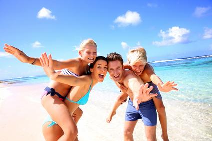 Familie Urlaub Strand
