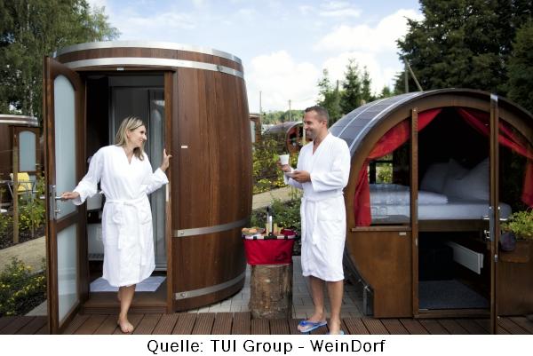 Im Themenhotel Weinfass Weindorf im Weinfass übernachten