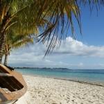 Mauritius Boot am Strand am Meer