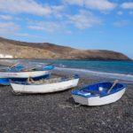 Boote am Strand von Fuerteventura
