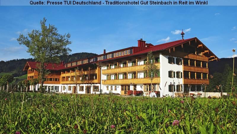 Kurzurlaub und Urlaub - Das Traditionshotel Gut Steinbach in Reit im Winkl