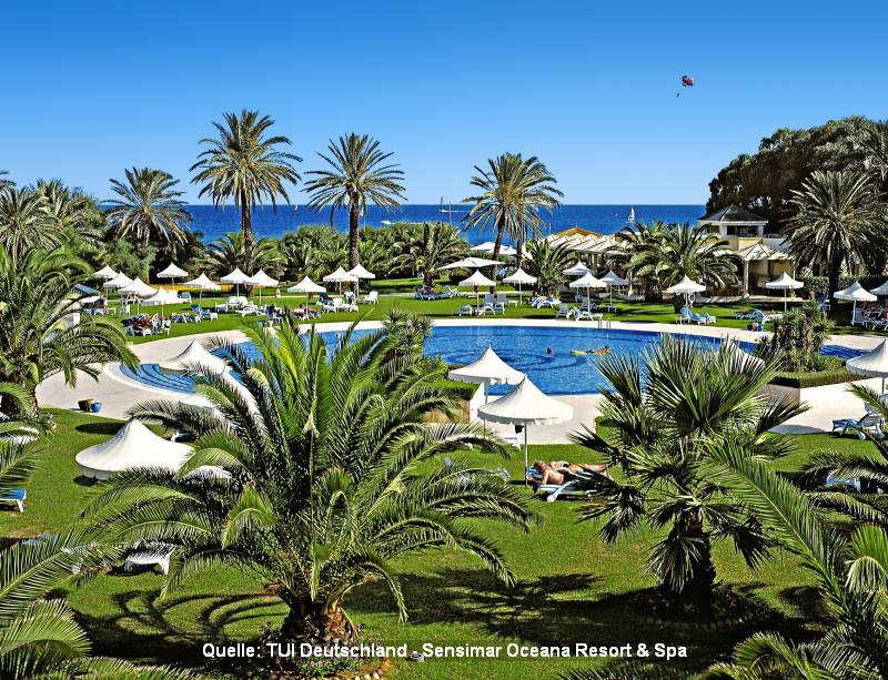 Urlaub in Tunesien Sensimar Oceana Resort & Spa in Hammamet hat fünf Sterne und liegt direkt am Strand