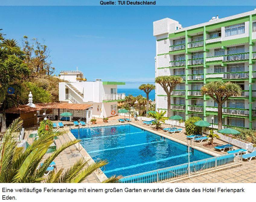 Hotel Ferienpark Eden Spanien Puerto de la Cruz