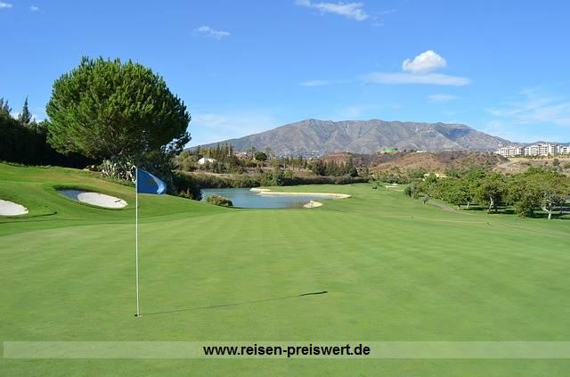 Urlaub und Golf spielen