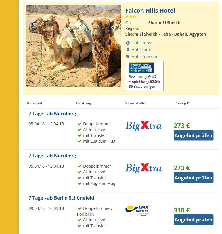 Falcon Hills Hotel Sharm el Sheik Ägypten