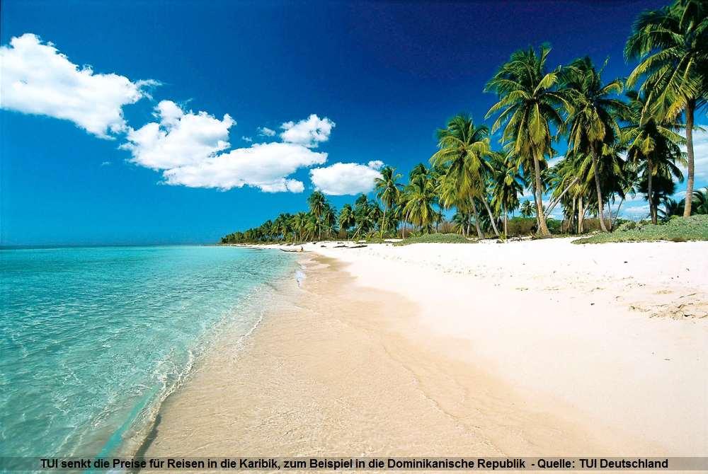 Strand mit Palmen in der Dominikanische Republik - Karibik