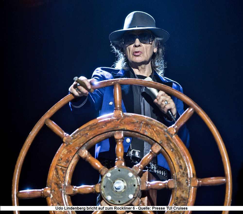 Udo Lindenberg auf der Mein Schiff 1 - Rockliner 2019