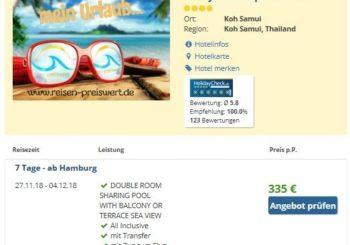 1 Woche Thailand ab 335 € – 4* Rocky's Boutique Resort auf Koh Samui