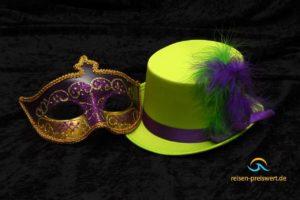 Hut & Maske - Karneval im Urlaub