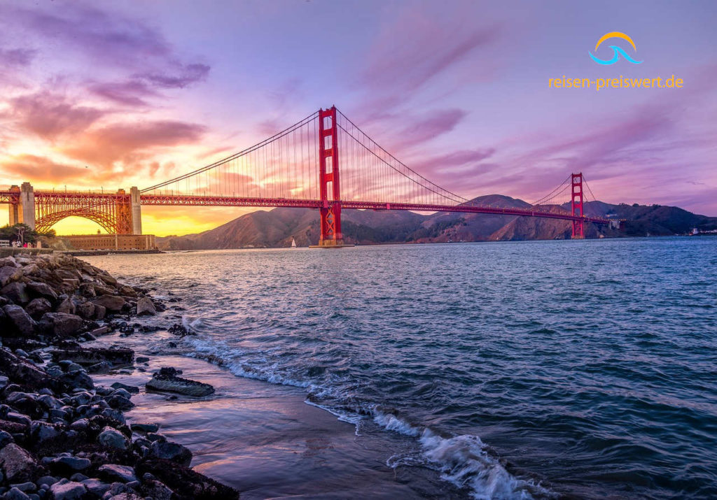 Die Golden Gate Brücke in San Francisco