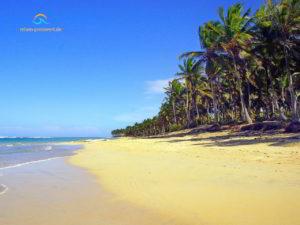 Strand Punta Cana - weißer Sandstrand und Palmen in der Dominikanischen Republik