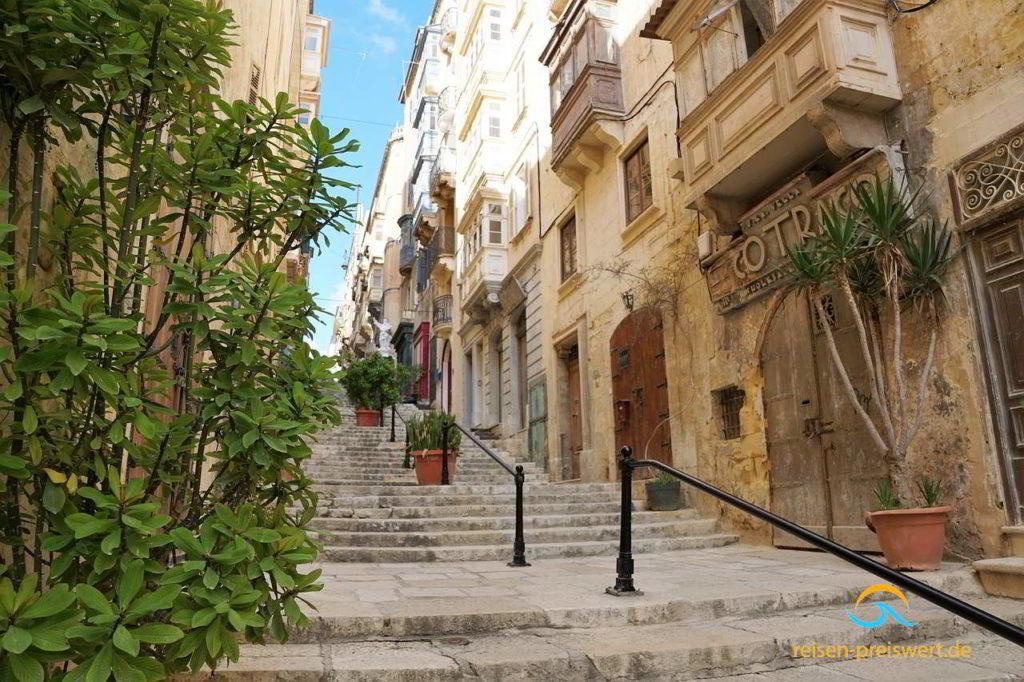 Valletta - Hauptstadt von Malta barocke Stadt mit historischen Gebäuden und Gassen